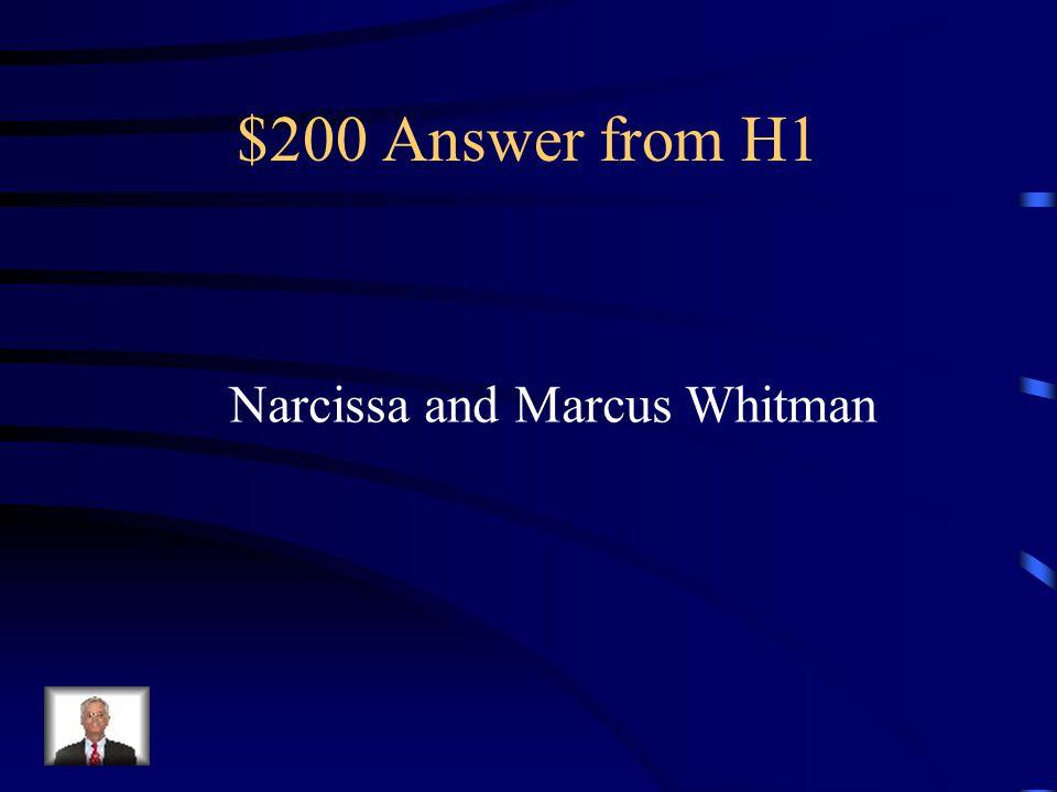 $200 Answer from H4 Samuel Slater