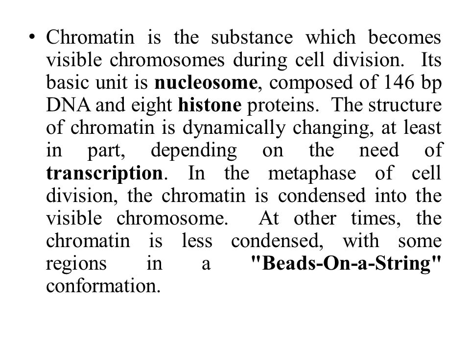 Chromatin is the substance which becomes visible chromosomes during cell division.