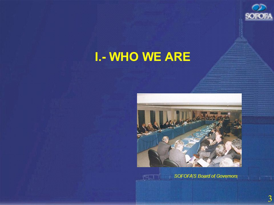 2 CONTENTS I. WHO WE ARE II. SERVICES AND PUBLICATIONS