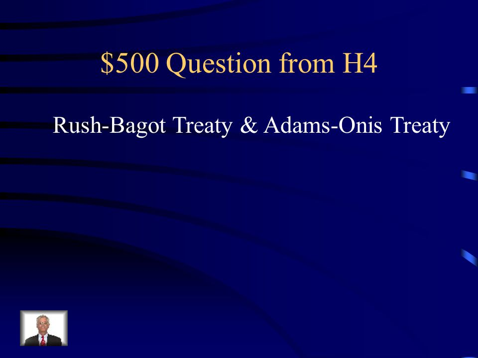 $400 Answer from H4 John Quincy Adams