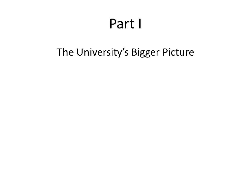 Part I The University's Bigger Picture