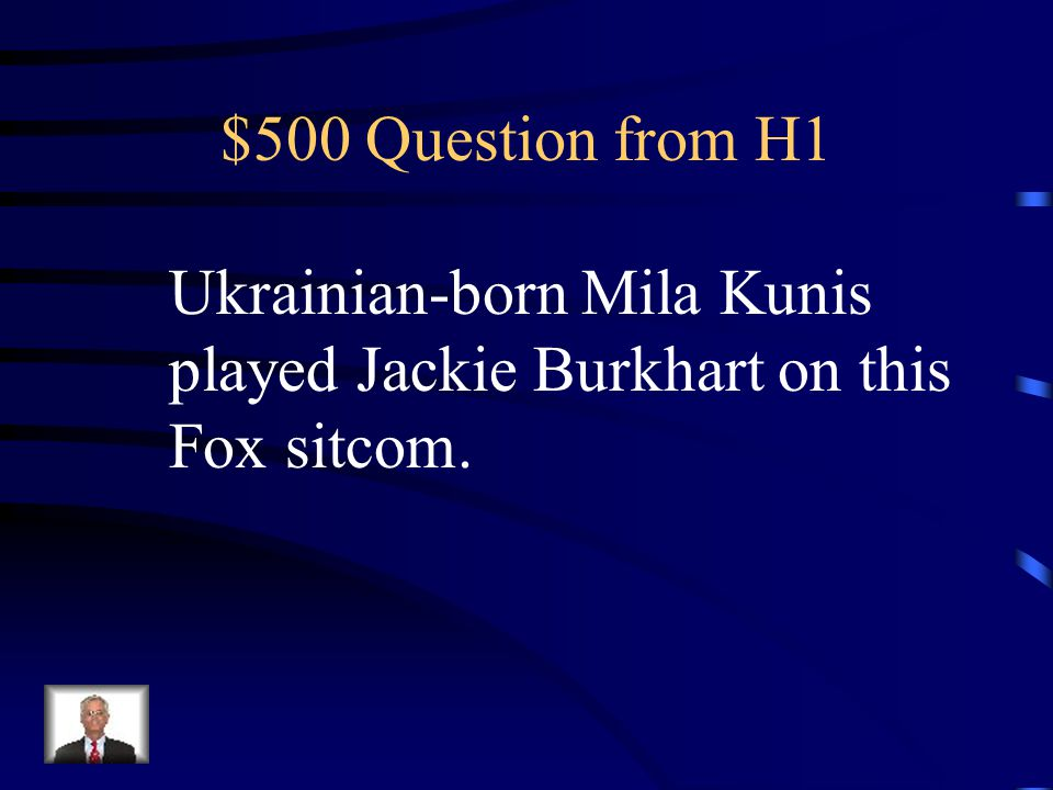 $400 Answer from H1 What is Dancing With the Stars