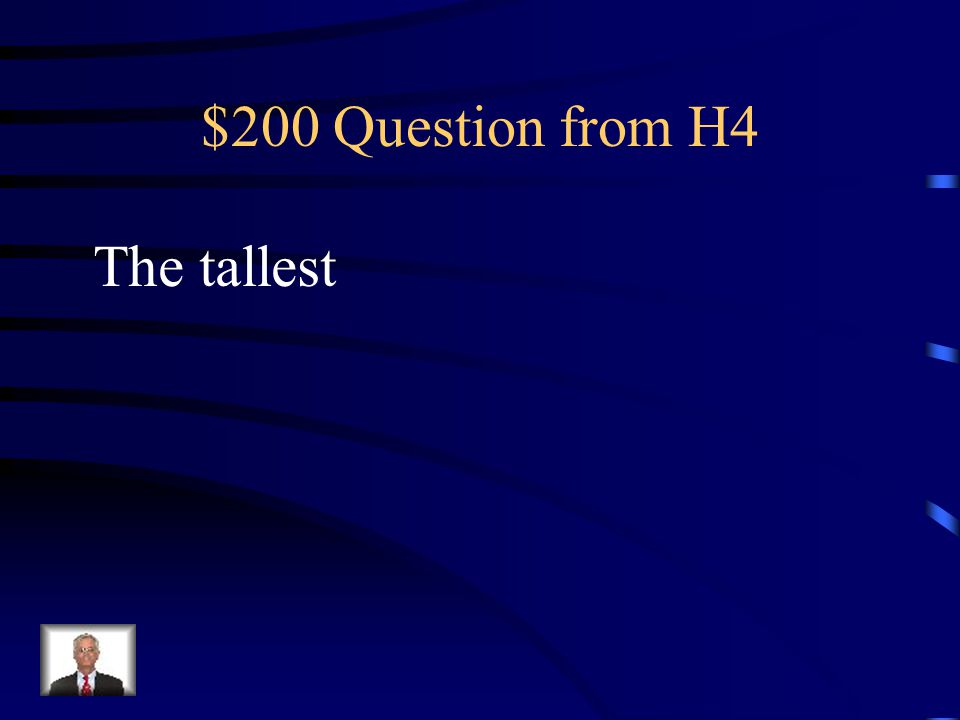 $100 Answer from H4 Who is Washington