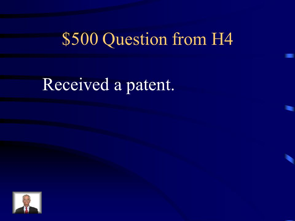 $400 Answer from H4 Who is Bush