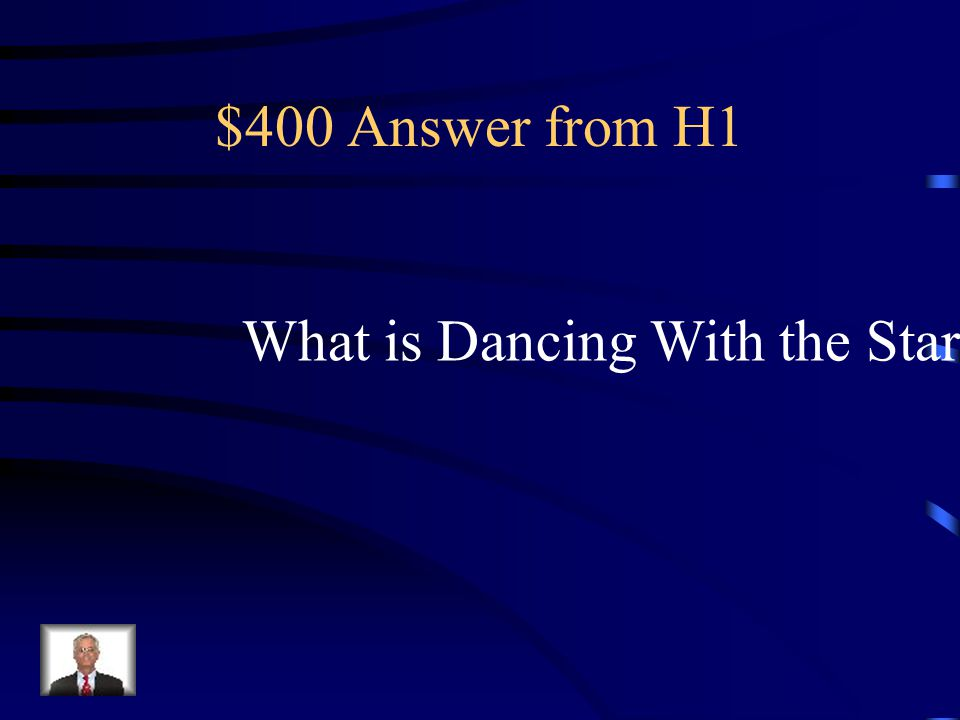 $400 Question from H1 Emmitt Smith won the third installment of this show with a samba.