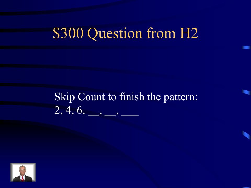 $200 Answer from H2 30, 40, 50, 60, 70, 80