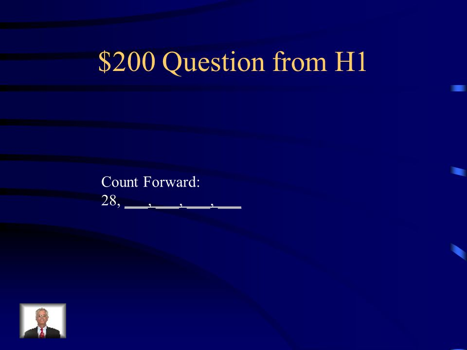 $100 Answer from H1 54, 55, 56, 57, 58