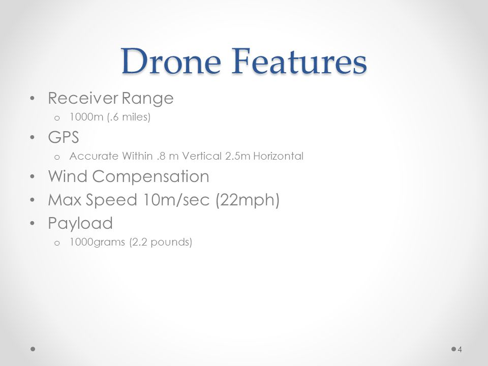 Drone Modifications 2 axis Gimble o Zenmuse H3-2D $699 o More control and less Jelloing Fatshark First Person Video o Can Transmit from GoPro o Live Flight View o Can record video from goggles o $299.99 Motors Blades Batteries 5