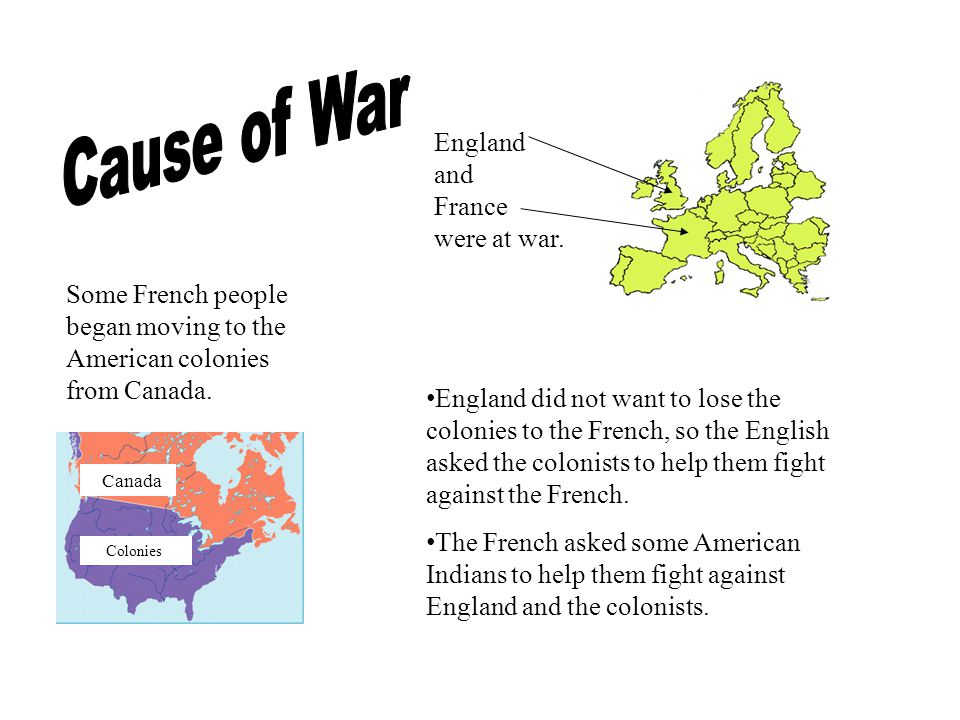 England and France were at war.