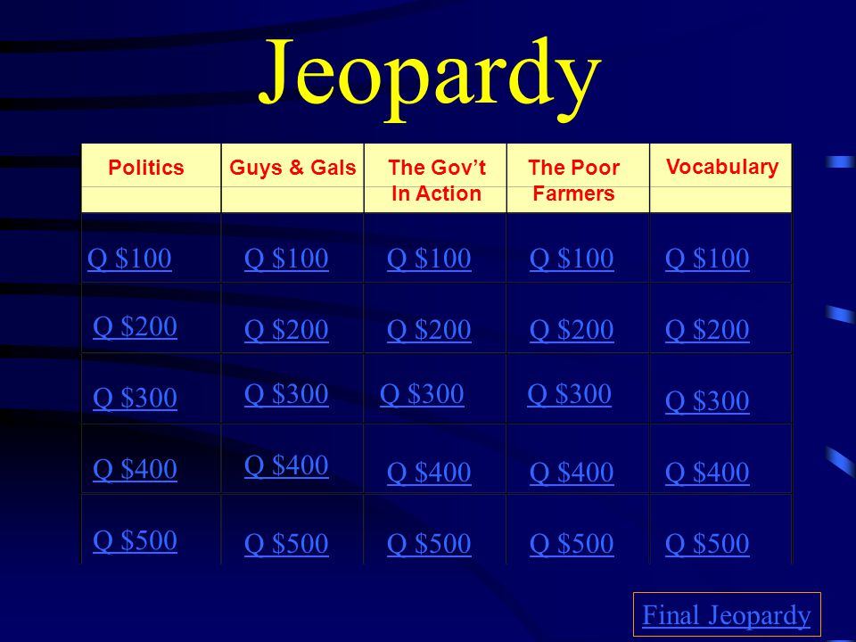 $500 Answer from H1 What is …. The Populist Party (People's Party)