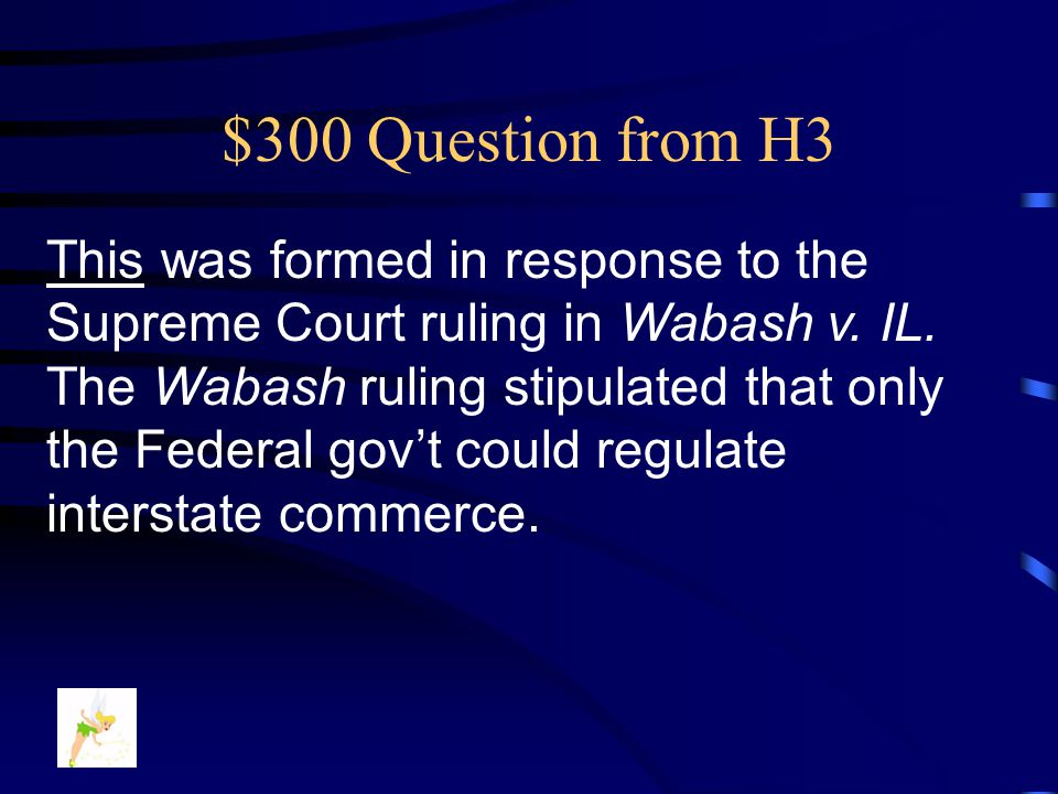 $200 Answer from H3 What is…. The Sherman Anti-Trust Act