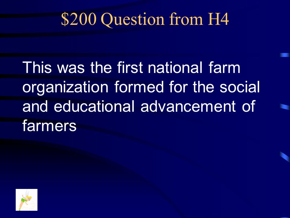 $100 Answer from H4 What are… Farmers' Problems