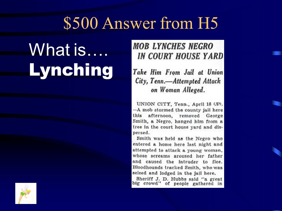 $500 Question from H5 An execution performed without Lawful approval