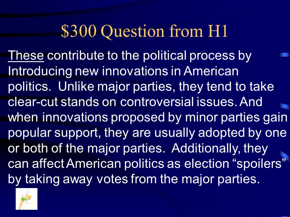 $200 Answer from H1 What is ….. The Democratic Party
