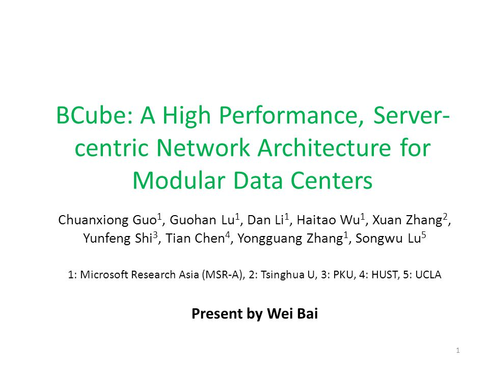 Data Center Network 2 Interconnect for distributed computing workload 1000s of server ports web app db map- reduce HPC monitoring cache