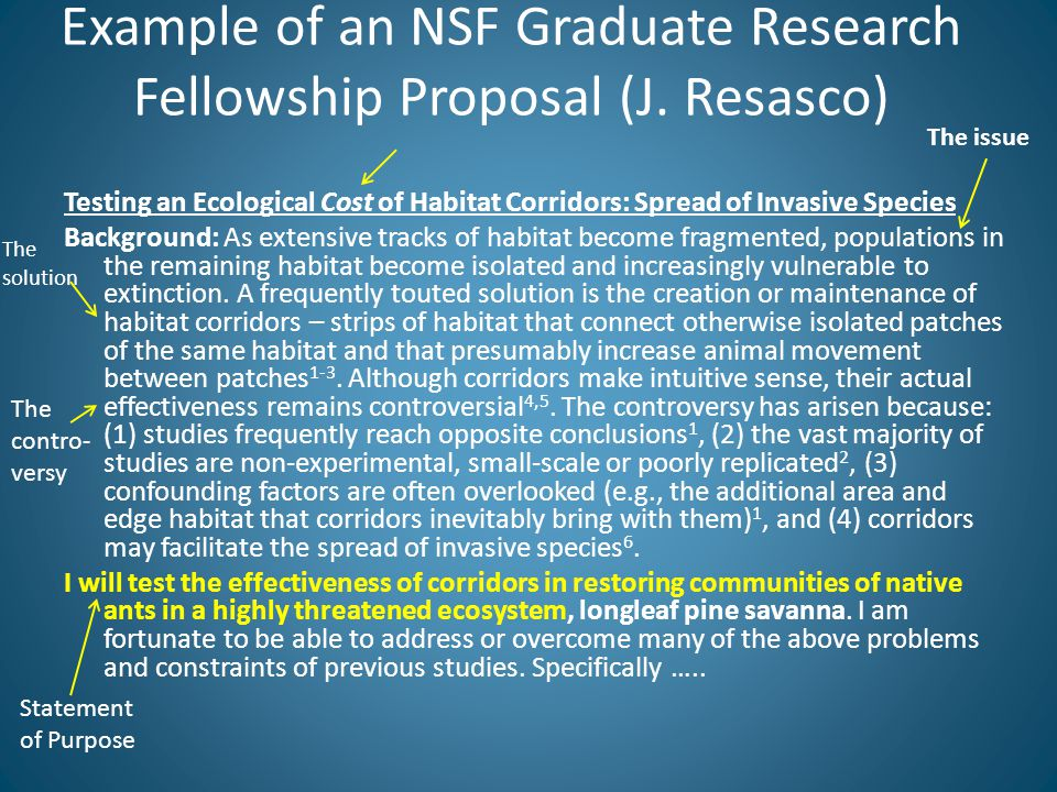 Example of an NSF Graduate Research Fellowship Proposal (J.