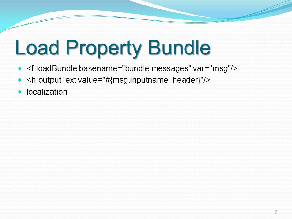 Load Property Bundle localization 9