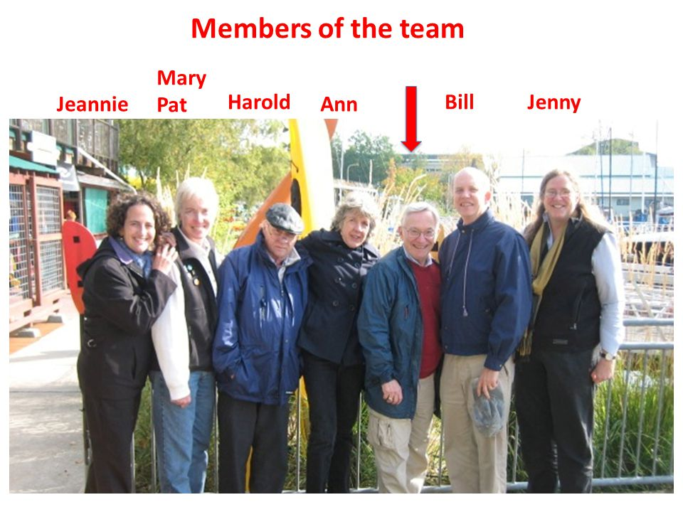 Mary Pat Harold Ann BillJenny Jeannie Members of the team
