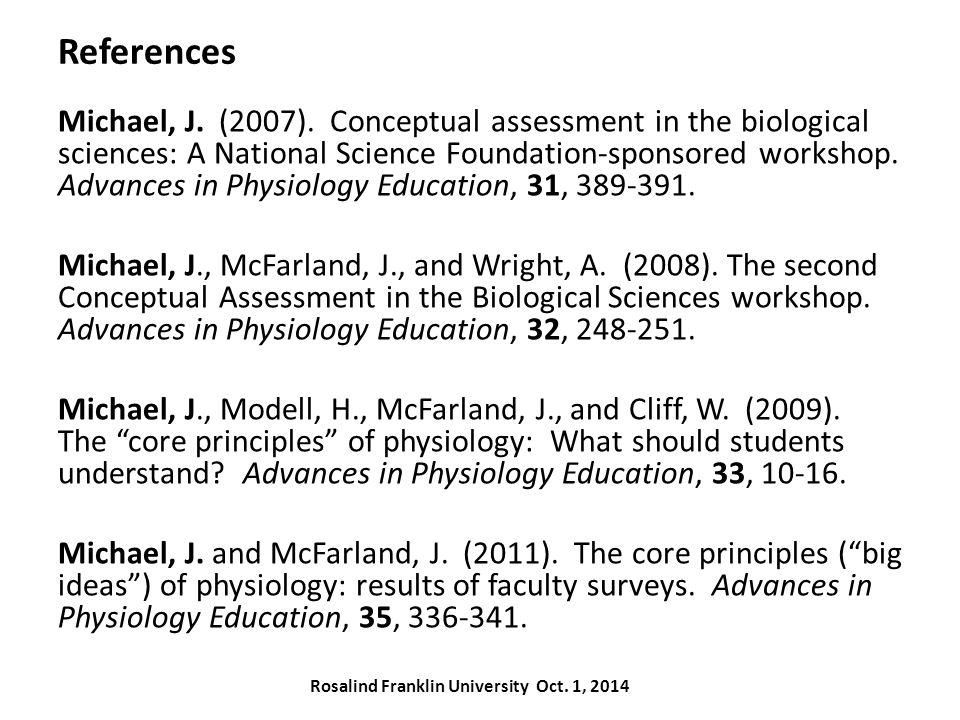 References Michael, J. (2007).
