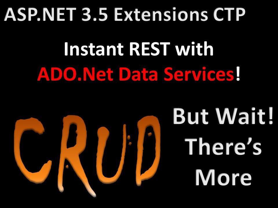 Instant REST with ADO.Net Data Services!