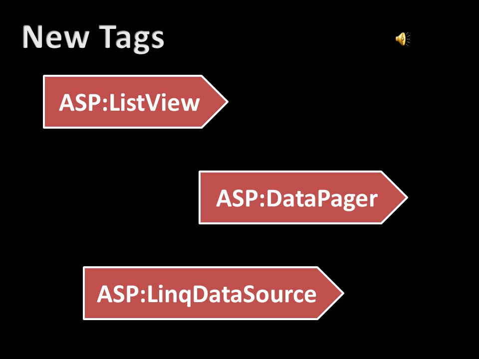 ASP:ListView ASP:DataPager ASP:LinqDataSource