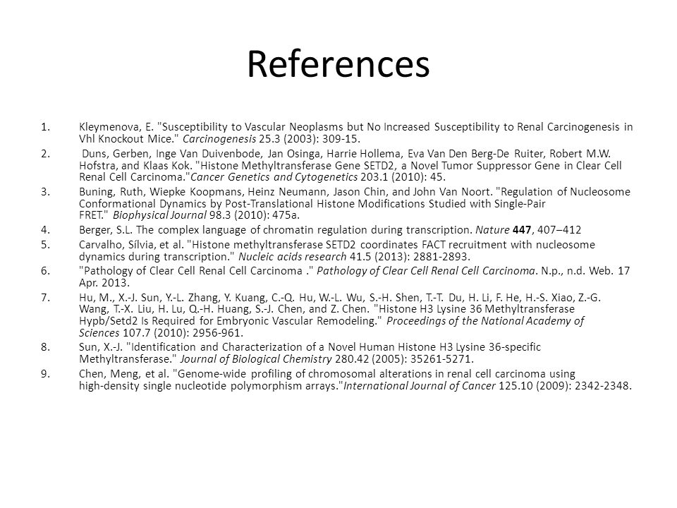 References 1.Kleymenova, E.