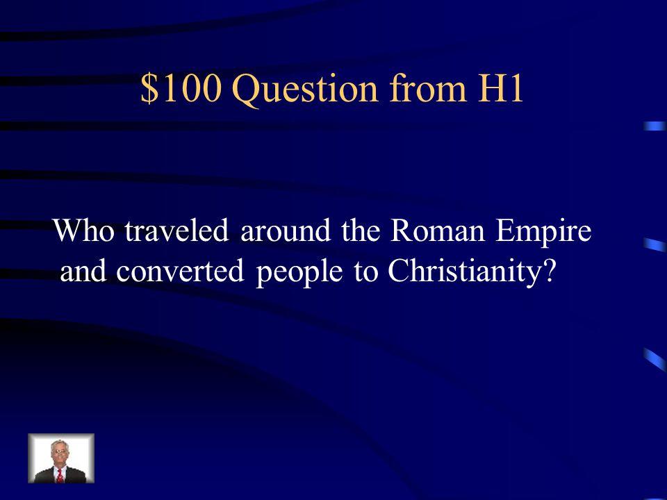 Jeopardy RELIGIONGREECELAW ODDS & ENDS Q $100 Q $200 Q $300 Q $400 Q $500 Q $100 Q $200 Q $300 Q $400 Q $500 Final Jeopardy ROME