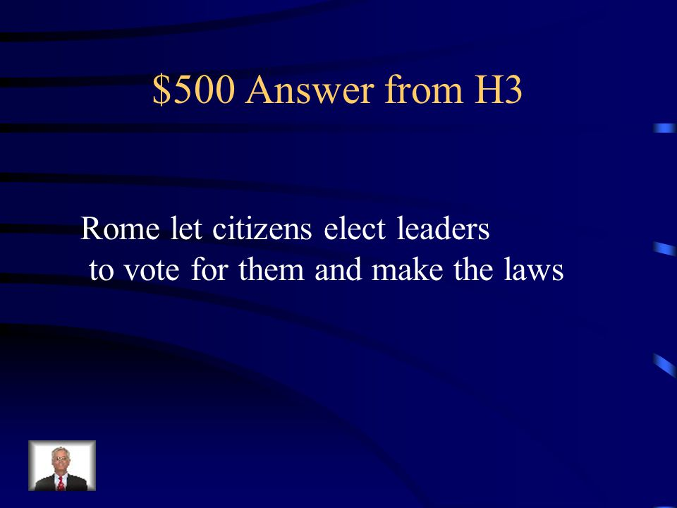 $500 Question from H3 How did Rome change the Greek Ecclesia (assembly) in their government?