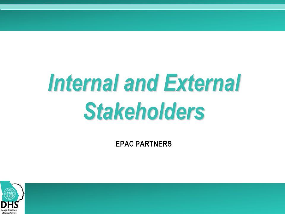 EPAC PARTNERS Internal and External Stakeholders