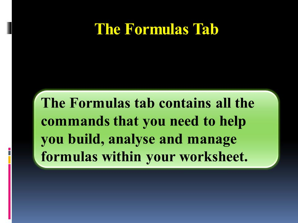 (3) Defined Names button can be used to watch the window of the formulas.