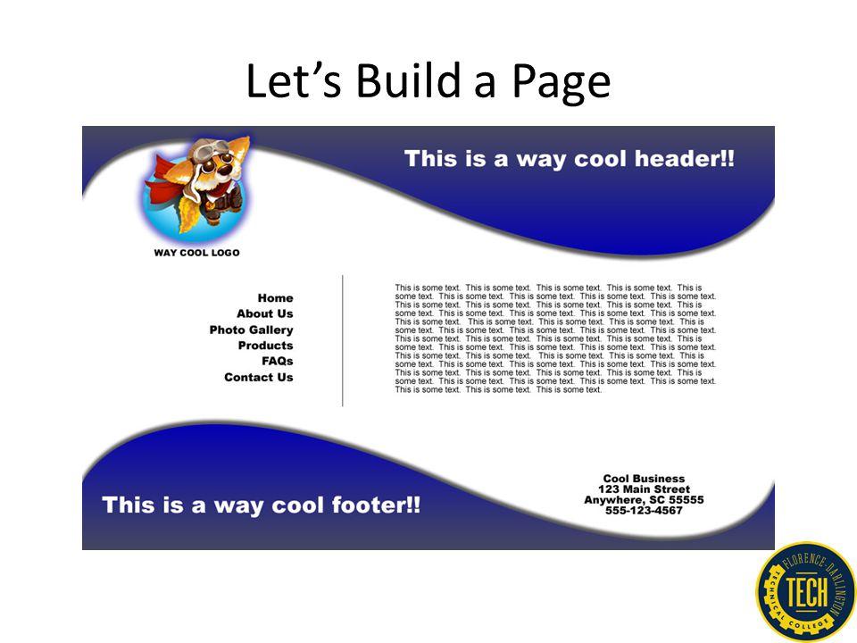 Let's Build a Page