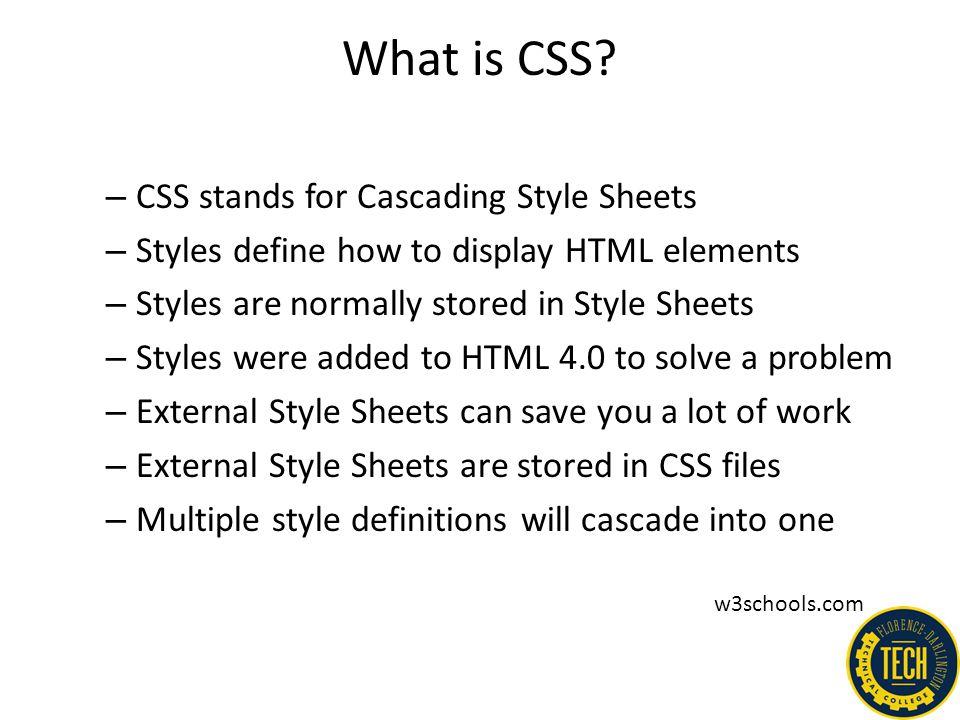 Media Types – example: http://www.w3schools.com/css/css_mediatypes.asp & link