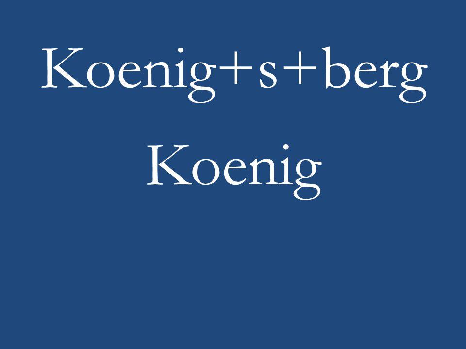 Koenig+s+berg Koenig