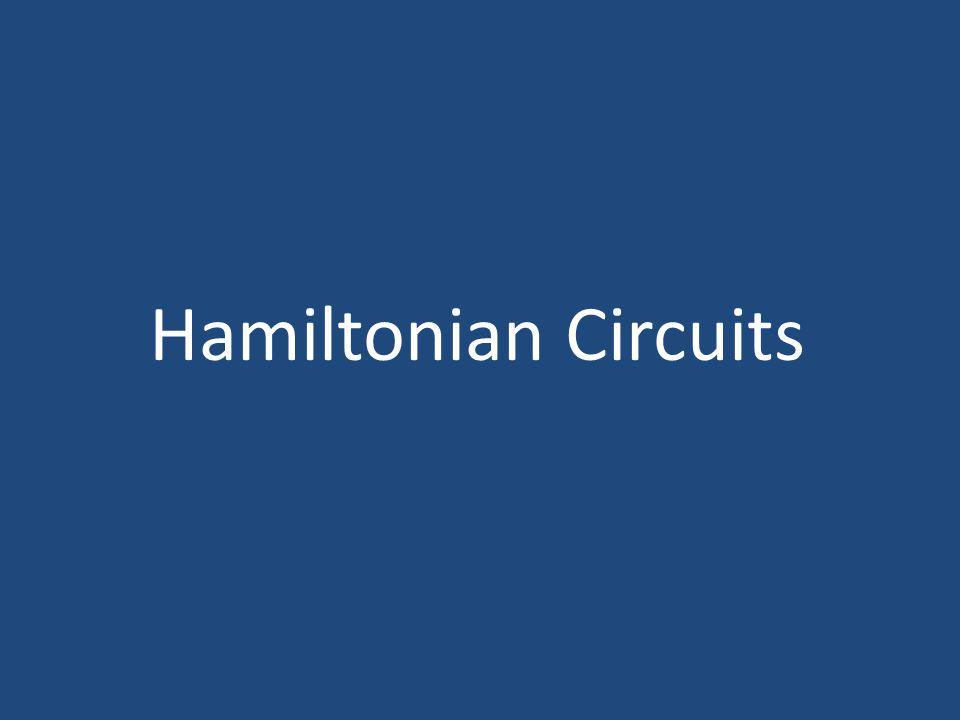 Hamiltonian Circuits