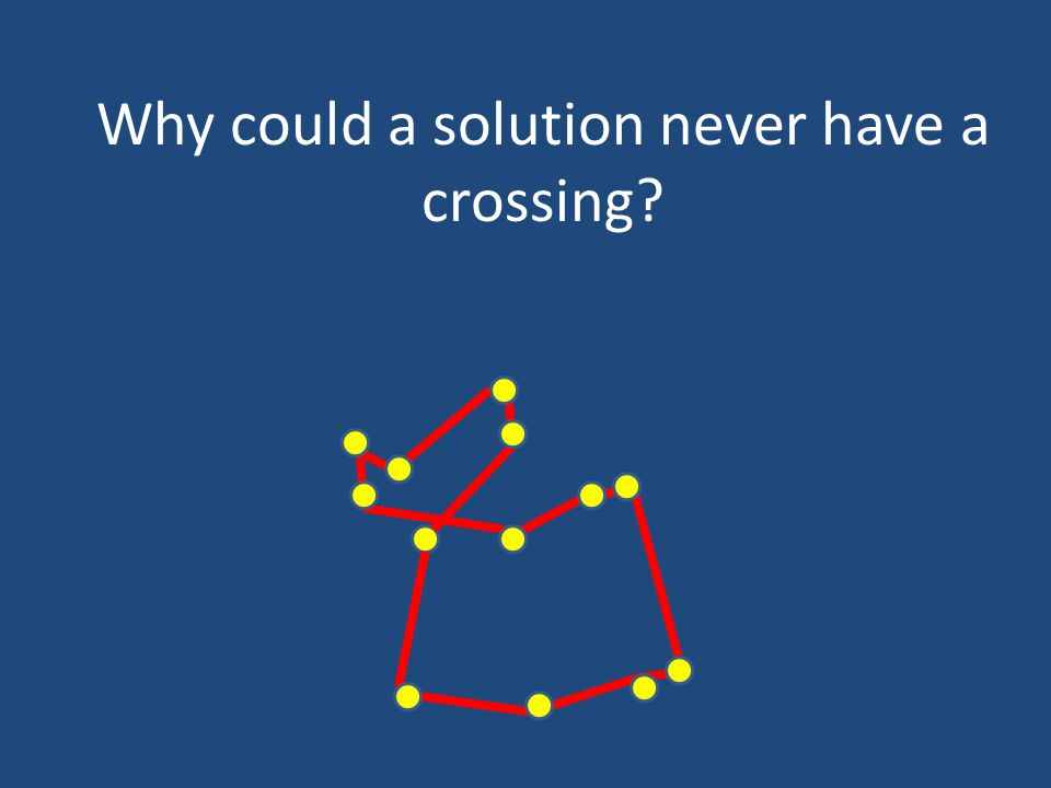 Why could a solution never have a crossing?