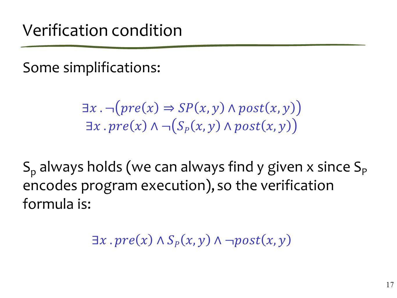 Verification condition 17