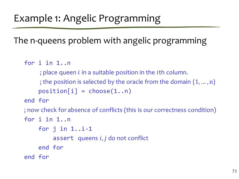 Example 1: Angelic Programming 51