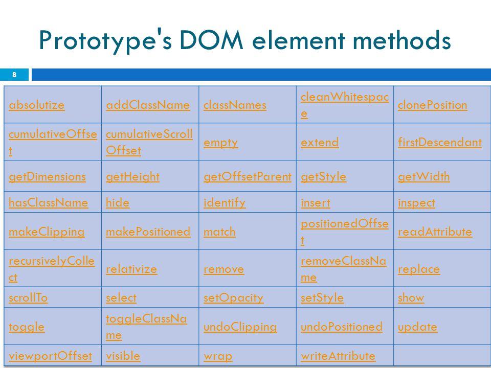 Prototype s DOM element methods 8