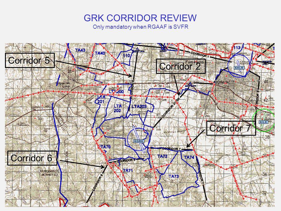 GRK CORRIDOR REVIEW Only mandatory when RGAAF is SVFR Corridor 5 Corridor 7 Corridor 6 Corridor 2