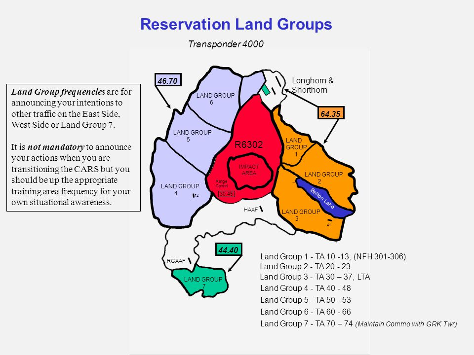 R6302 IMPACT AREA LAND GROUP 7 LAND GROUP 4 LAND GROUP 5 LAND GROUP 6 Belton Lake LAND GROUP 3 LAND GROUP 2 LAND GROUP 1 Land Group 1 - TA 10 -13, (NF