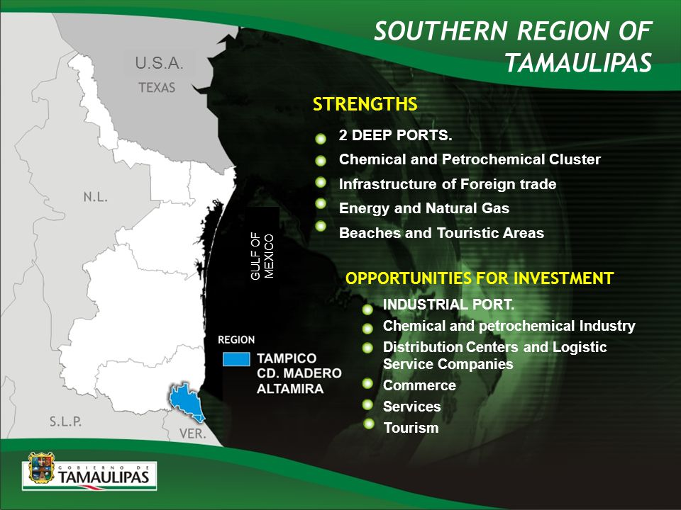 STRENGTHS OPPORTUNITIES FOR INVESTMENT INDUSTRIAL PORT.
