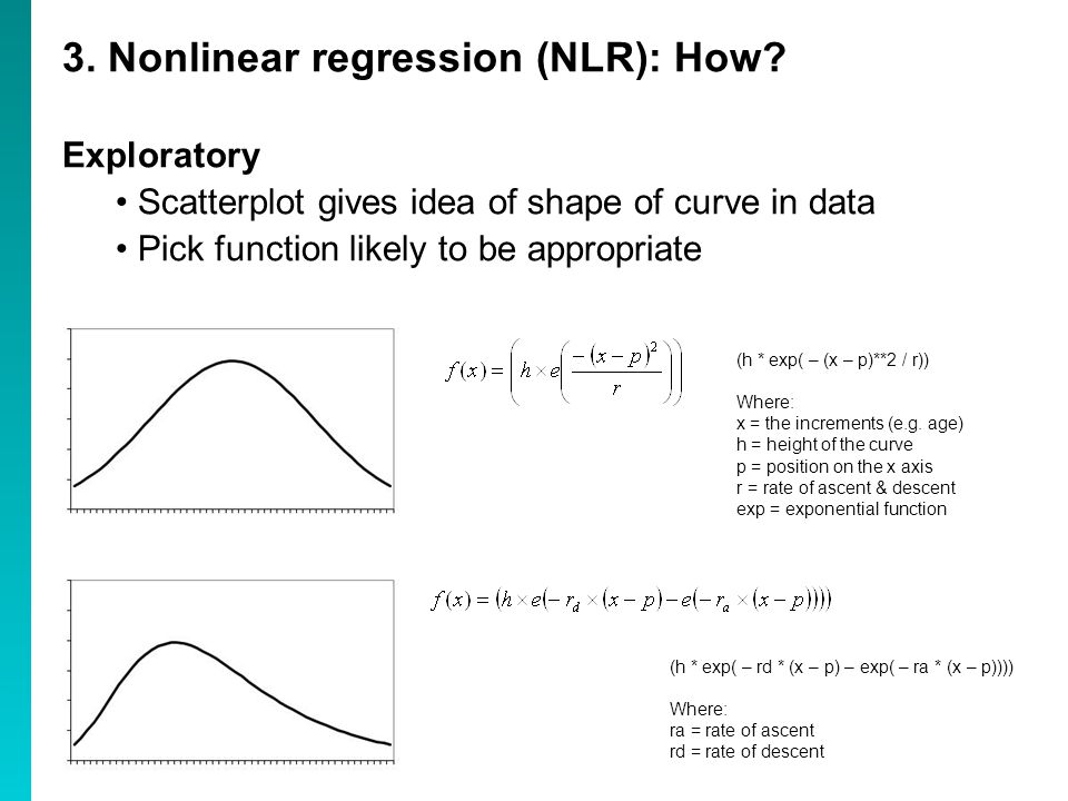 3. Nonlinear regression (NLR): How.