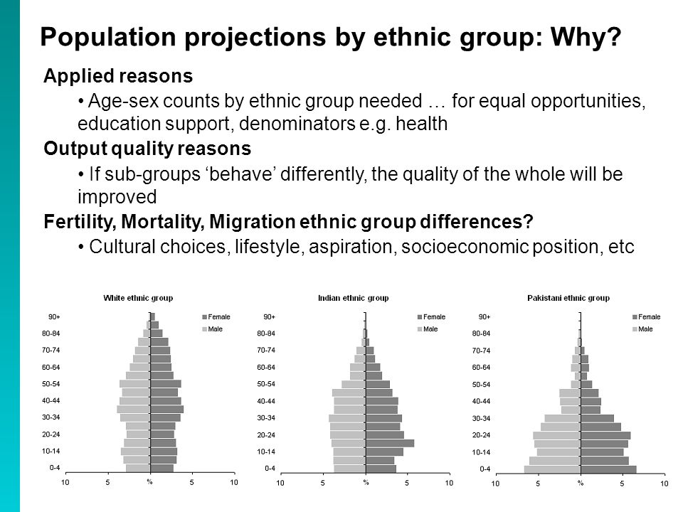 Population projections by ethnic group: Why.