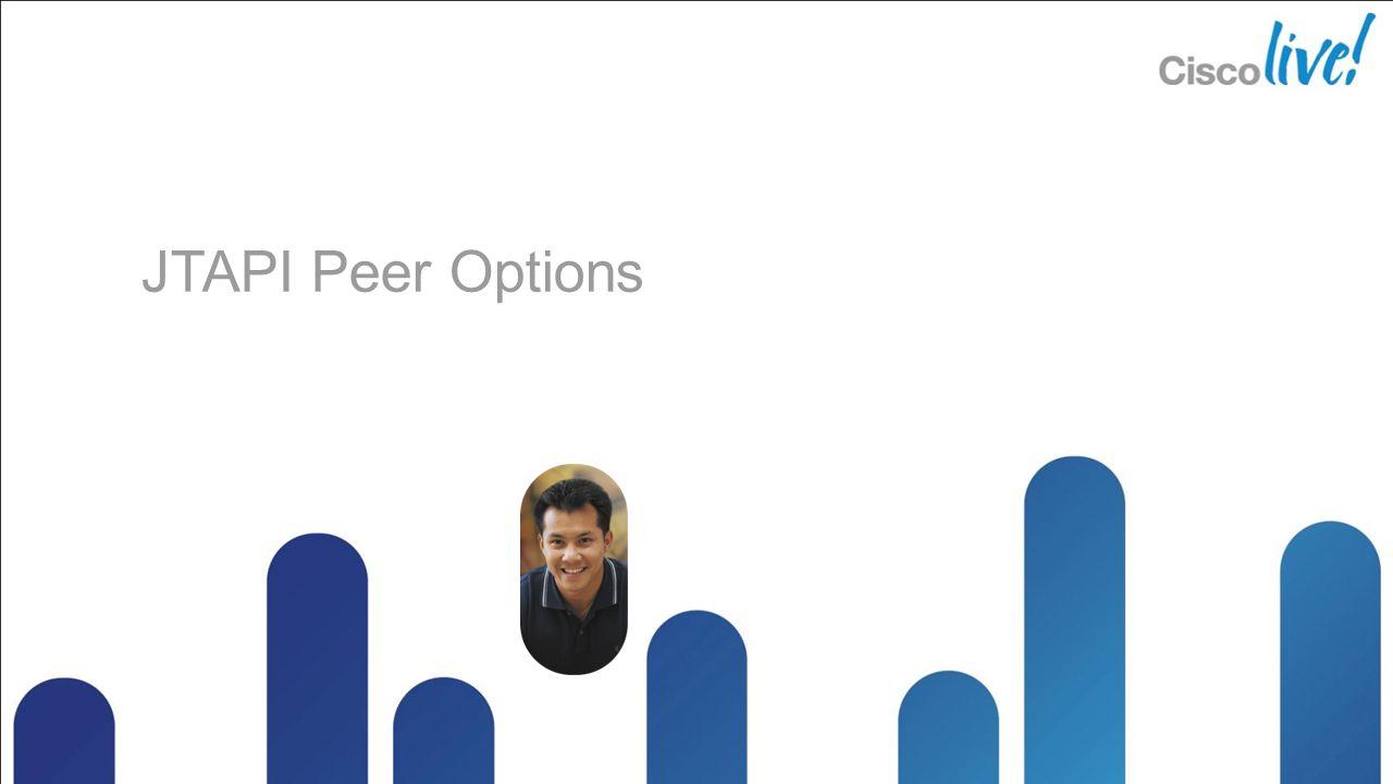 JTAPI Peer Options