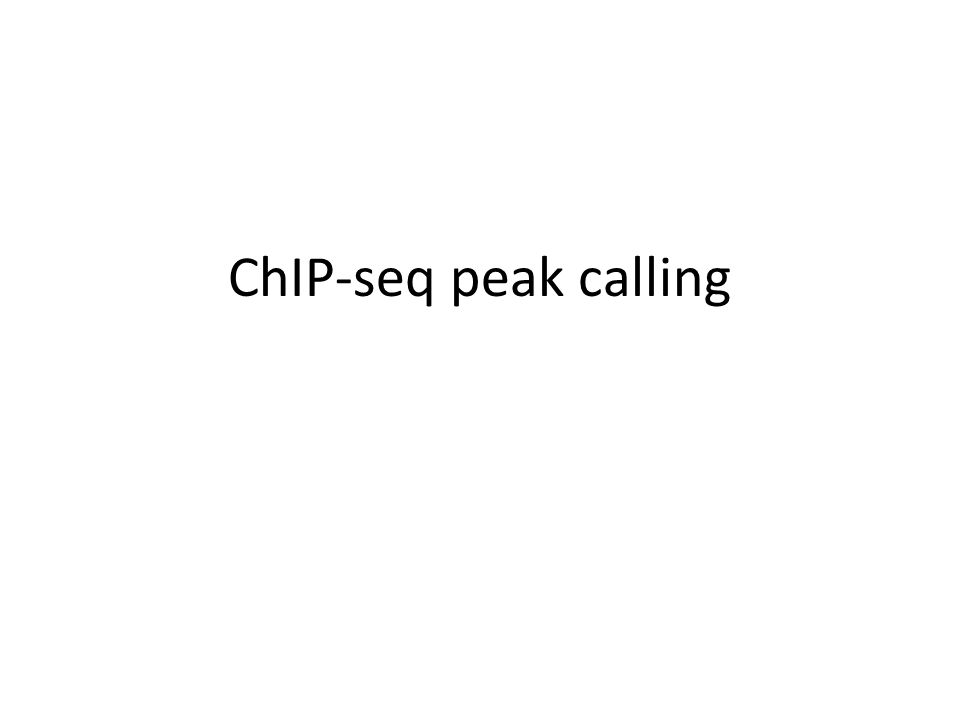 ChIP-seq peak calling