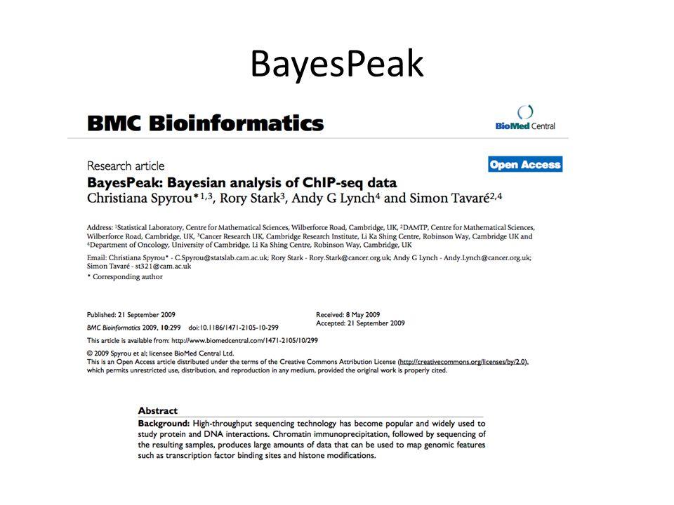 BayesPeak