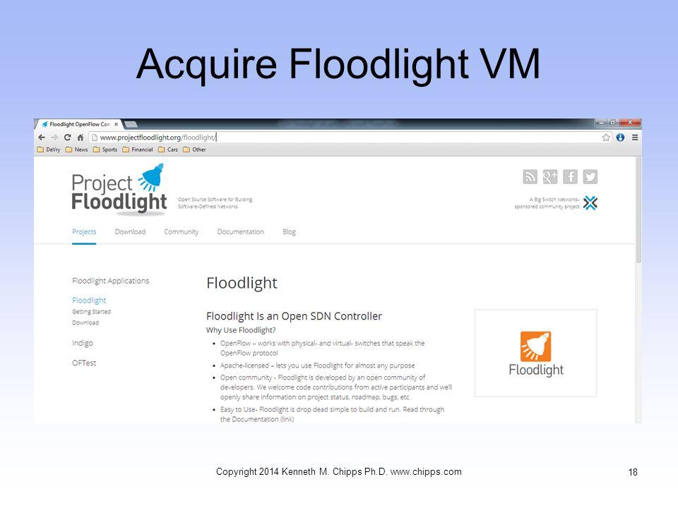 Acquire Floodlight VM Copyright 2014 Kenneth M. Chipps Ph.D. www.chipps.com 18