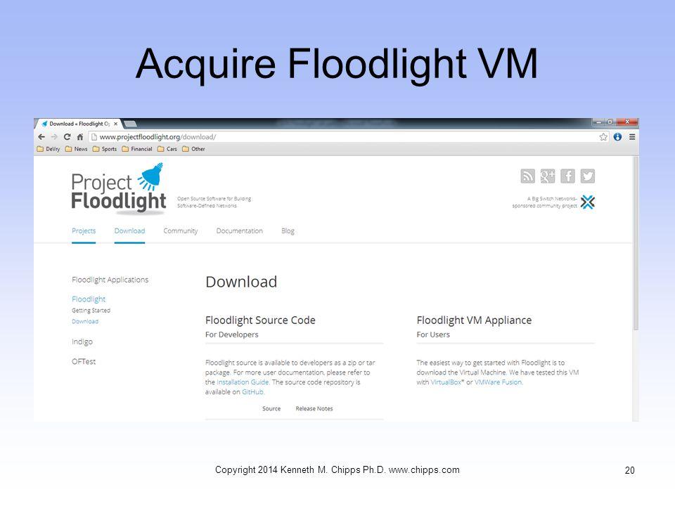 Acquire Floodlight VM Copyright 2014 Kenneth M. Chipps Ph.D. www.chipps.com 20