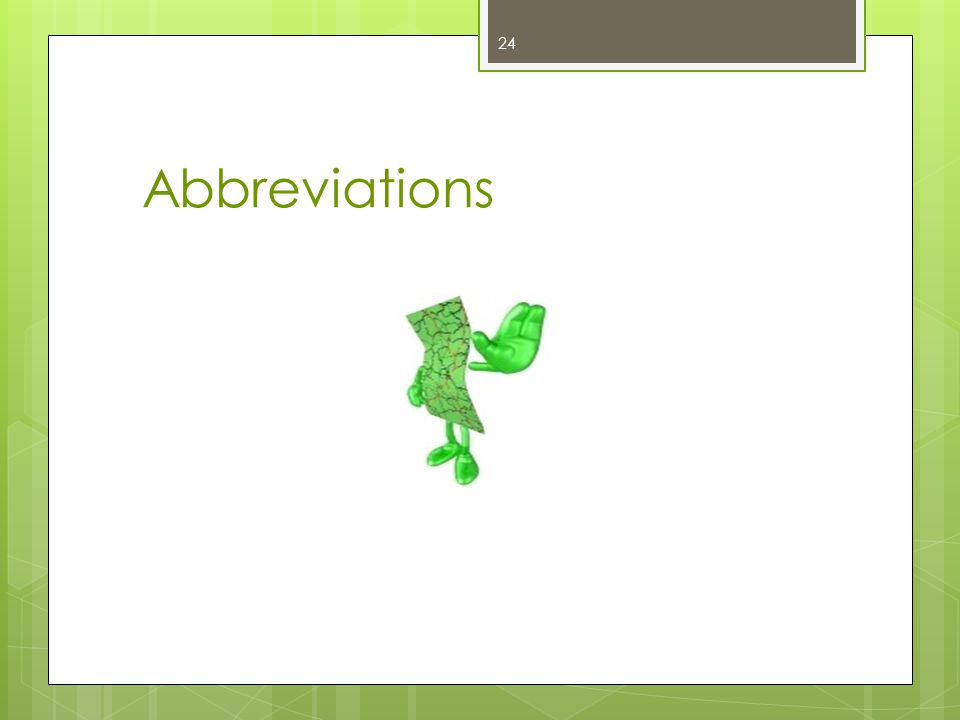 Abbreviations 24