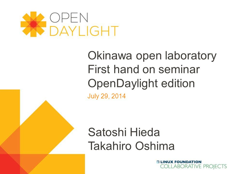 www.opendaylight.org Status of OpenFlow OpenDaylight Controller Architecture One of the protocols supported by OpenDaylight (Southbound Interface) 42